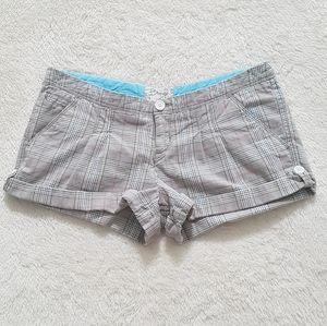 Bongo Y2K glen plaid shorts with rolled cuffs